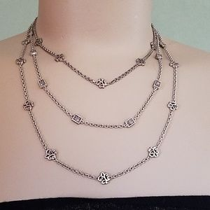 Lois Hill triple strand necklace